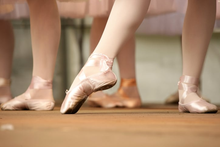 ballerinas with ballet shoes